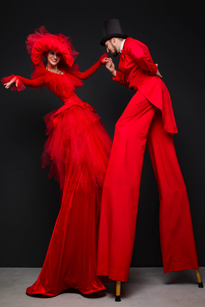 ходулисты красная пара